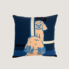 Doggie in the mirror cushion covers - navy