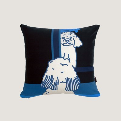 Doggie in the mirror cushion covers - black
