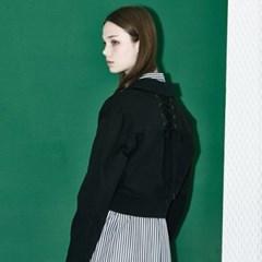 [디바이디그낙] Back Lace Up Short Jumper BK