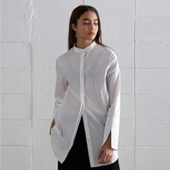 [디바이디그낙] China Collar Long Shirts WH