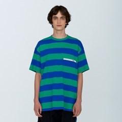 [디바이디그낙] Rubber Wappen Stripe T-ShirtsBL