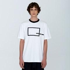 [디바이디그낙] Square Printing T-ShirtsBK