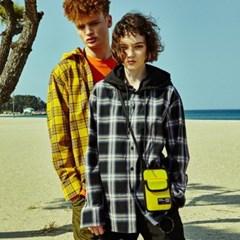 [디바이디그낙] Detachable Hood Check Shirts BK