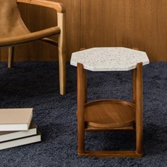 피카 테라조 테이블(팔각 화이트)_(2162737)