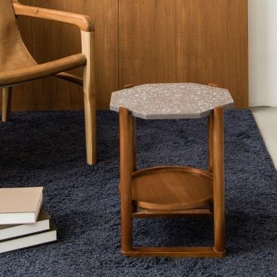 피카 테라조 테이블(팔각 그레이)