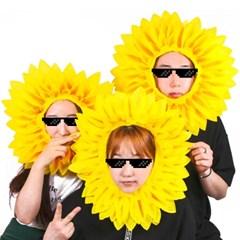 갓샵 핵 인싸템! 해바라기 꽃 얼굴 가면! 응원 용품 쓸데없는 선물