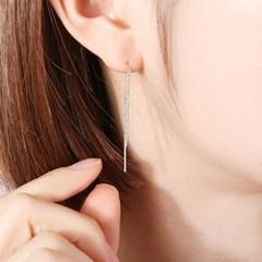 심플 실버 바 귀걸이 OTE116411NSS