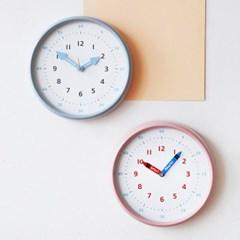 250파이 어린이 시간공부 무소음 컬러벽시계(2color)_(1677274)