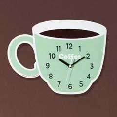 [나룸] WMC-141 커피 머그잔 벽시계(무소음)_(980337)