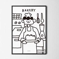 유니크 인테리어 디자인 포스터 M 식빵맨 베이커리 카페