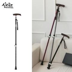 [실버로드] 정품 노인 효도 한발 지팡이 블랙