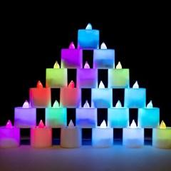 LED 티라이트 [칼라] 점멸형 24개입_(11791064)