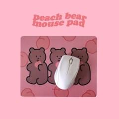 [뮤즈무드] peach bear mouse pad