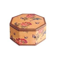 전통민화 나비 팔각상자