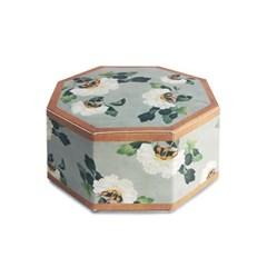 전통민화 흰꽃 상자 소 (2개)