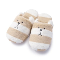 크래프트홀릭 BEIGE BORDER SLOTH SLIPPER