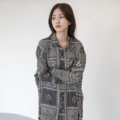 [치즈달] 에스닉 커프스 셔츠