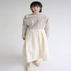 wrap forming dry texture skirts (cream)_(1320890)