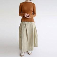 wrap forming dry texture skirts (khaki)_(1320889)