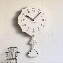 교육용 추벽시계 (앨리스 냥이)