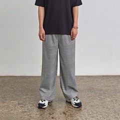 GLEN CH WIDE PANTS_BLACK