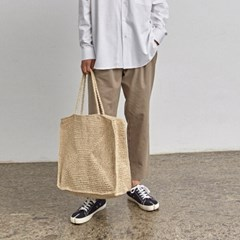 BANDING STRAIGHT COTTON PANTS_KHAKI