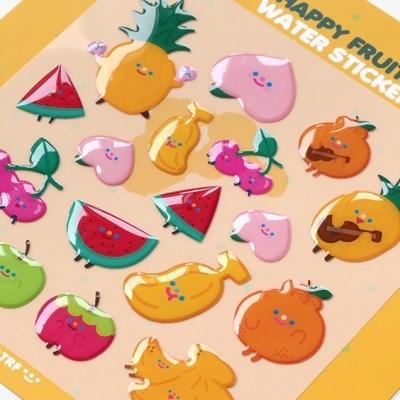HAPPY FRUITS water sticker