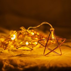 로즈골드 별 와이어 전구_(2133456)