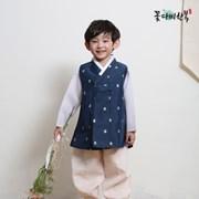 [복주머니 증정] 꽃다비 면옥사 청 남아 한복