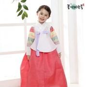 [복주머니 증정] 꽃다비 수방사 색동 당의 여아 한복