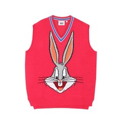 [FW19 Looney Tunes] Bugs Bunny Knit Vest(Pink)
