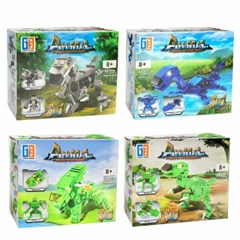 3가지 변신 공룡 레고 블럭(S)