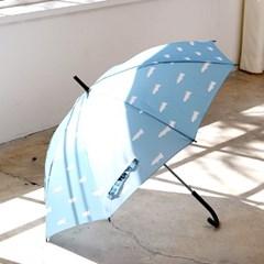 프린트 우산 - 악어블루