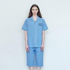 더시원한 린넨 여름잠옷 SET - 블루