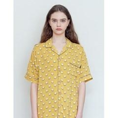더시원한 여름잠옷 셔츠 - 튤립 머스터드 L size