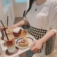 로나 베이직 무지 반팔 티셔츠 (3color)