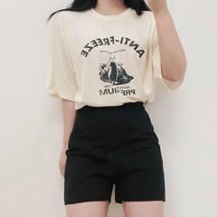 프리즈 반팔 데일리 나염 티셔츠 (4color)