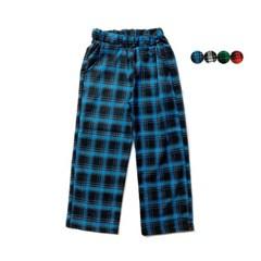 타탄 체크 와이드 팬츠 Tartan Check Wide Pants (4color)