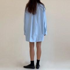 클래식 셔츠 미니 원피스