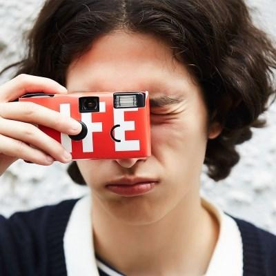 라이프 일회용 카메라 - 레드