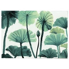 패브릭 포스터 F315 식물 인테리어 그림 액자 연잎 B