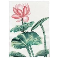 패브릭 포스터 F314 꽃 식물 연꽃 그림 액자 연잎 A