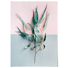 패브릭 포스터 F312 식물 인테리어 액자 유칼립투스 가지