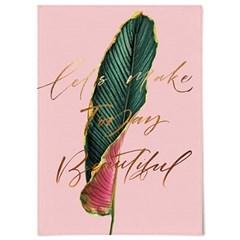 패브릭 포스터 F306 식물 디자인 액자 Beautiful today