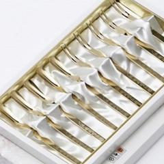 장미 황금 티스푼세트 10P