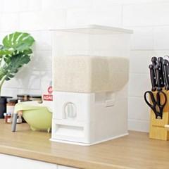 방습기능계량쌀통(10kg) / 밀폐형 계량 방습기능 벌레방지 자동 쌀통