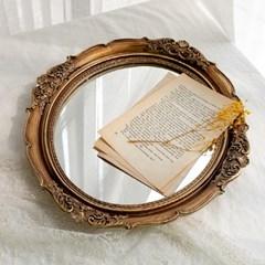 엔틱 프레임 라운드 벽 거울