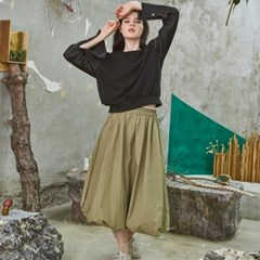 Relax Balloon Skirt Khaki