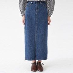 lounge denim long skirt (s, m, l)_(1324823)