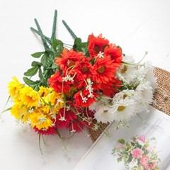 13대거베라부쉬 45cm 조화 성묘 꽃 인테리어 FAGAFT_(1424808)